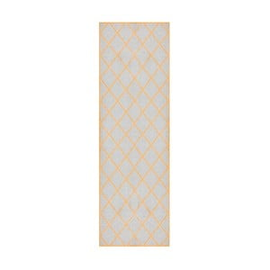Šedooranžový běhoun Hanse Home Magic Scale, 50x150cm