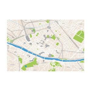 Tablou Homemania Maps Florence, 70 x 100 cm