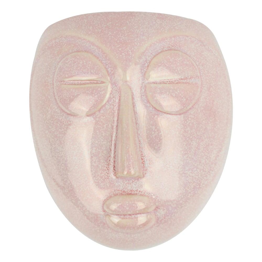 Růžový nástěnný květináč PT LIVING Mask, 16,5x17,5cm