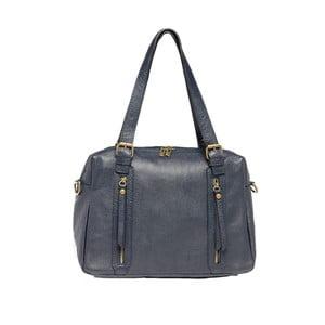 Šedomodrá kožená kabelka Tina Panicucci Nulio