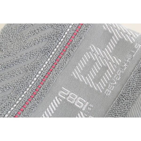 Bavlněný ručník BHPC šedý, 50x100 cm