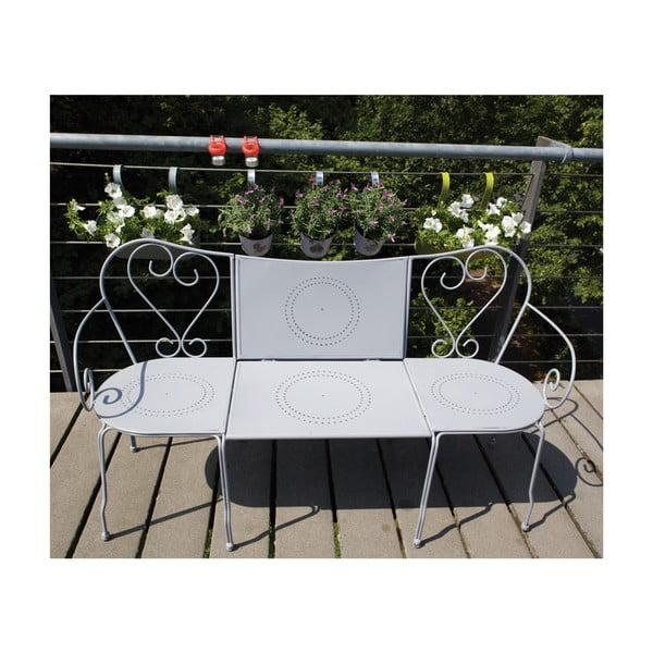 Skládací lavice se stolkem na balkón Nature, šedá
