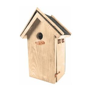 Căsuță din lemn de pin pentru păsări Esschert Design Antik, înălțime 27,4 cm