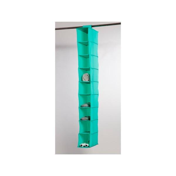 Zelený závěsný organizér s 9 přihrádkami Compactor Rack