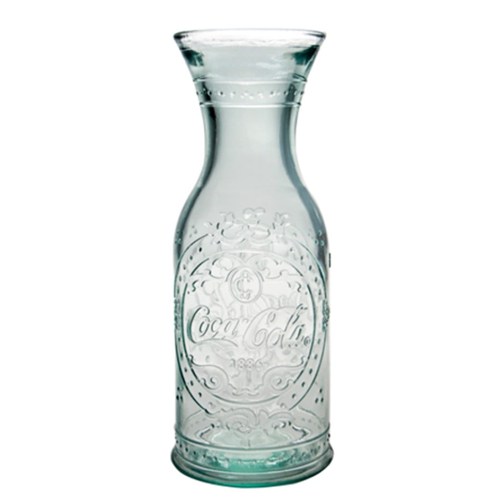 Skleněná váza/karafa z recyklovaného skla Ego Dekor, 1l