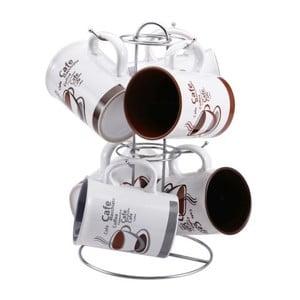 Set hrnků Cafe se stojanem, 7 ks
