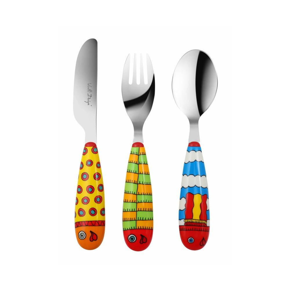 3dílná sada dětských příborů Vialli Design Pop