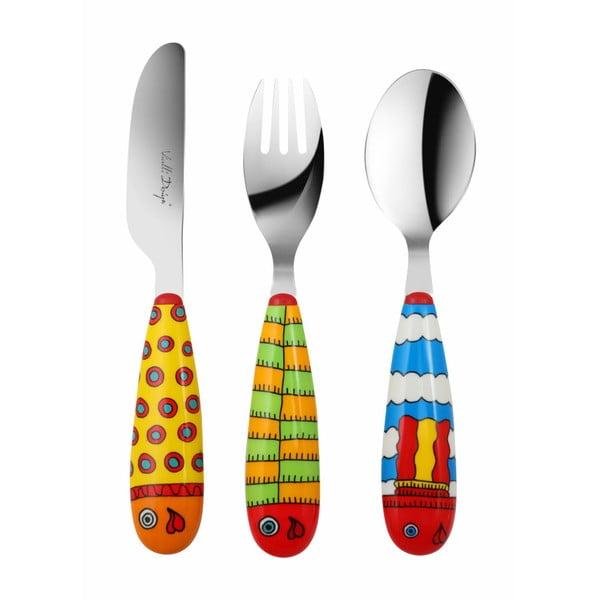 Zestaw 3 sztućców dziecięcych Vialli Design Pop