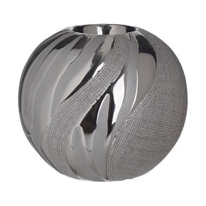 Keramický svícen ve stříbrné barvě InArt Votive, ⌀12cm
