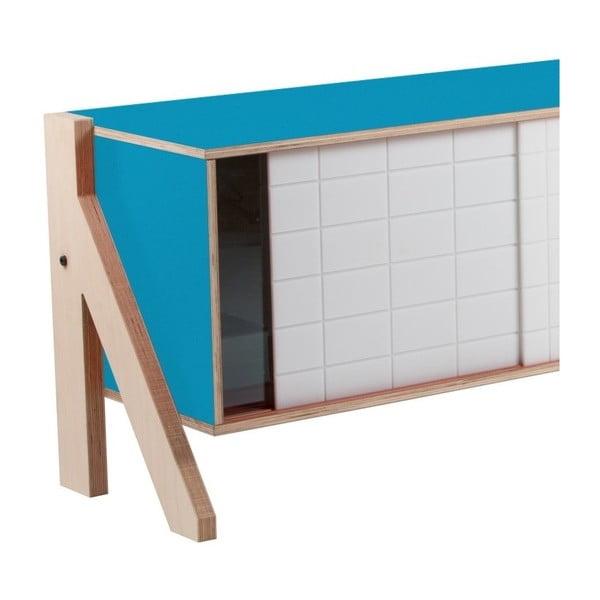 Modrá komoda rform Frame, délka 115 cm