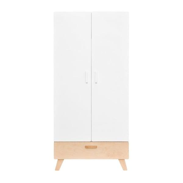 Bílá dvoudveřová šatní skříň BELLAMY Hoppa