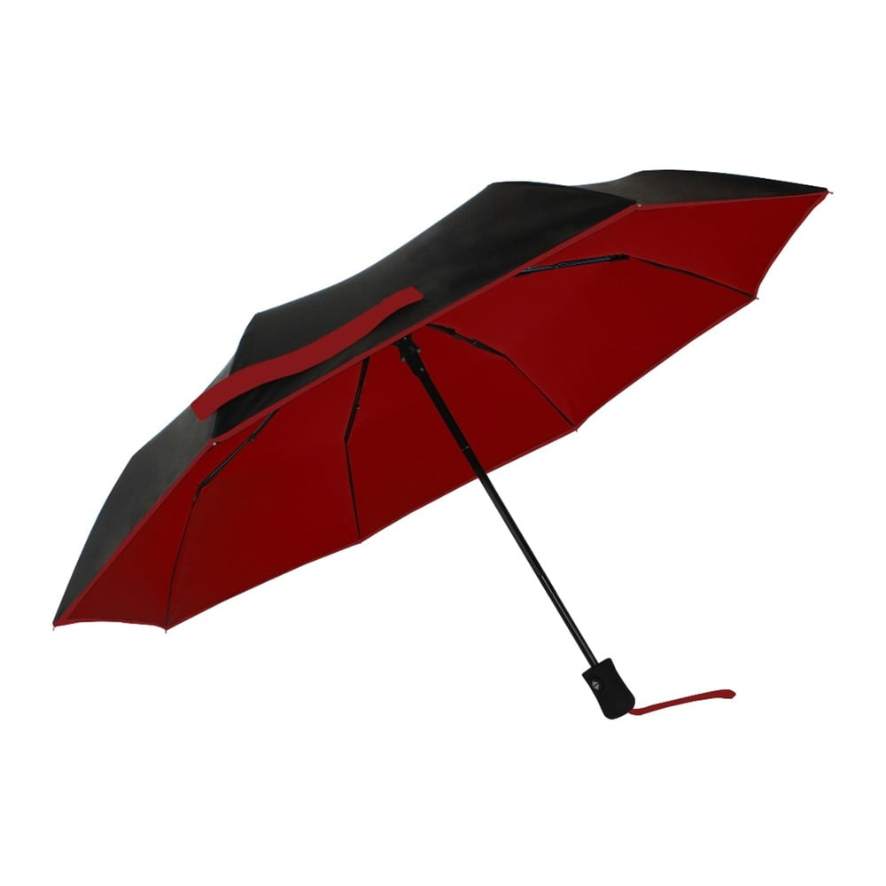 96e5c527011 Červeno-modrý větruodolný deštník s UV ochranou Ambiance