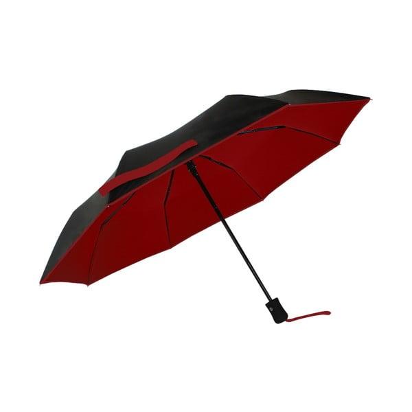 Umbrelă anti-vânt automată Ambiance Anti-UV, ⌀ 97 cm, negru-roșu