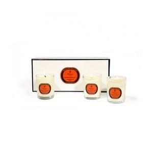Sada 3 svíček s vůní pomeranče, cedrového dřeva a hřebíčku Parks Candles London  OCC, 20 hodin hoření