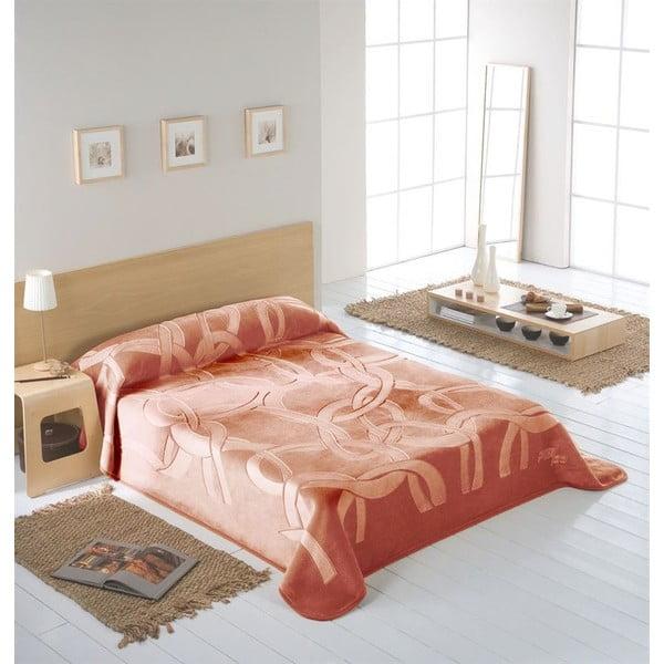 Přehoz Piel světle růžový WJ, 160x240 cm