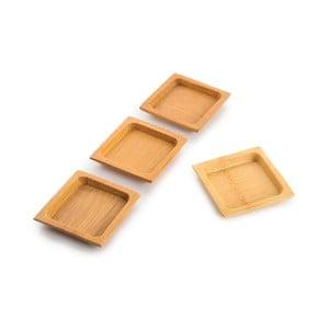 Sada 4 misek z bambusu na omáčky Bambum, ⌀ 6 cm
