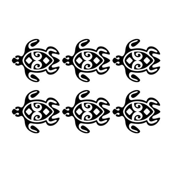 Sada 6 samolepek Ambiance Turtles Chain