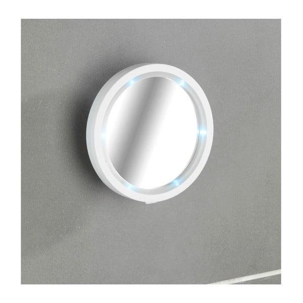 Nástěnné zvětšovací zrcadlo s LED světlem Wenko Travel