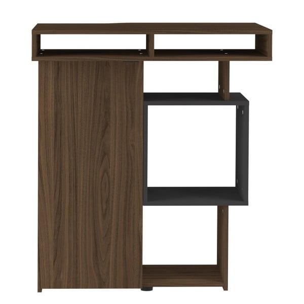 Tmavě hnědý barový stolek Symbiosis Bar