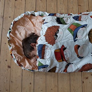 Sac de dormit pentru copii Bartex Chipuri vesele, 70 x 180 cm