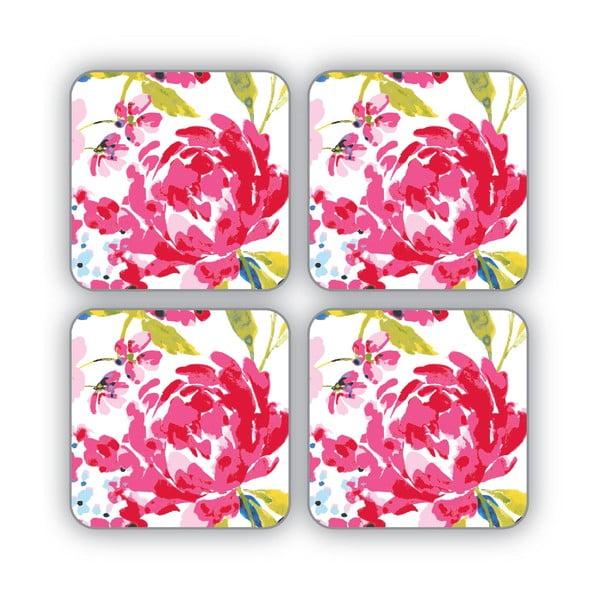 Sada 4 podtácků Cooksmart England Floral Romance