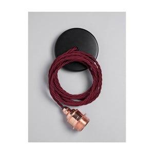 Závěsný kabel Copper Burgundy Red