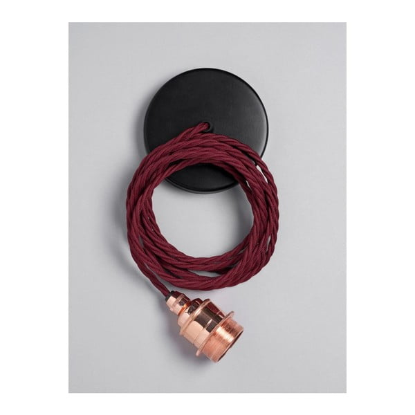 Závěsný kabel Copper Burgundy Red