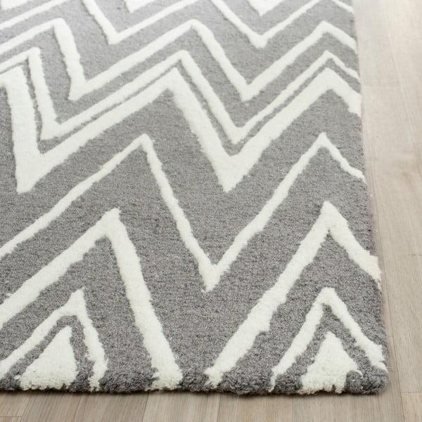 Vlněný koberec Luca Grey, 152x243 cm