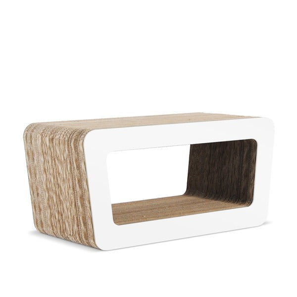 Kartonový televizní stolek Cinema White