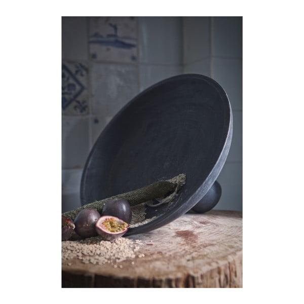 Tmavě hnědá mísa na ovoce z březového dřeva De Eekhoorn Essential