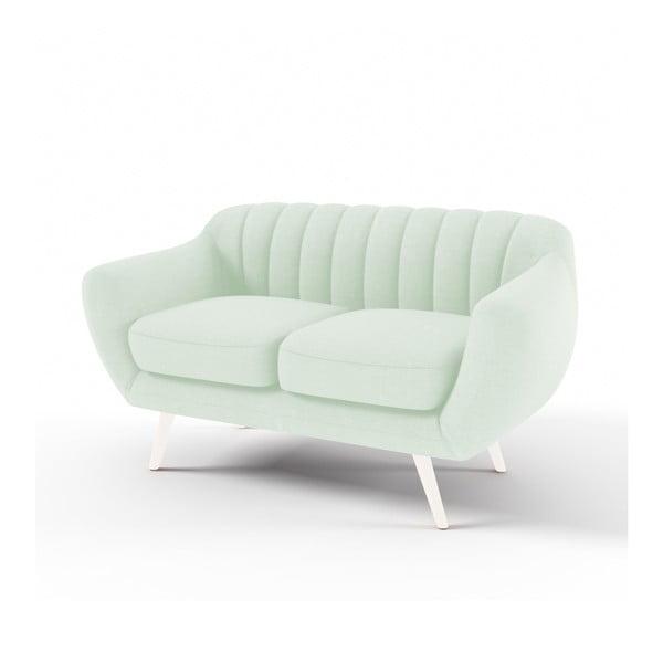 Canapea cu 2 locuri Vivonita Kennet, verde pastel
