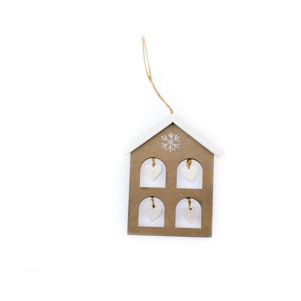 Závěsná vánoční dekorace ve tvaru domku Dakls Nicholas