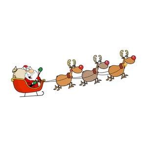 Vánoční samolepka Ambiance Santa Claus and Reindeer