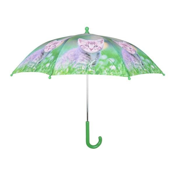 Zielona parasolka z nadrukiem kociątka Esschert Design Animals