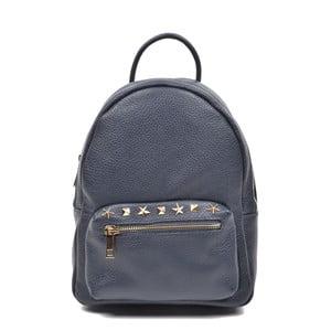 Tmavě modrý kožený batoh Mangotti Rabia