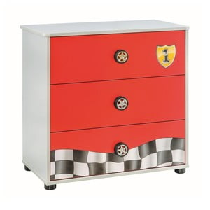 Červená komoda Race Cup Dresser