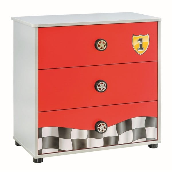 Race Cup Dresser piros komód