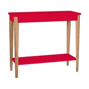 Červený konzolový stolek Ragaba Ashme, šířka85cm