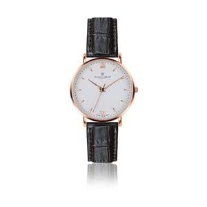 Pánské hodinky s černým páskem z pravé kůže Frederic Graff Rose Dent Blanche Croco Black Leather