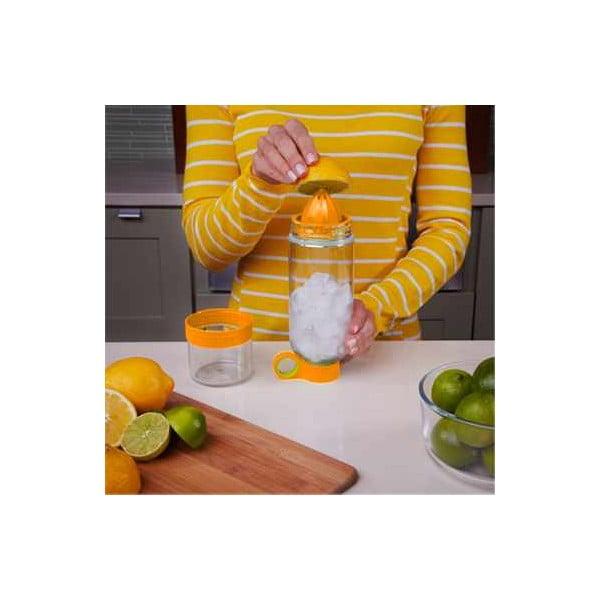 Citruszinger, lahev na vodu a citrusy, oranžová