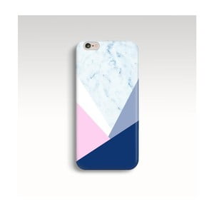 Obal na telefon Marble Navy Triangle pro iPhone 6/6S