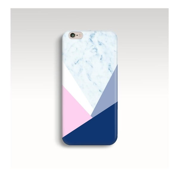 Obal na telefon Marble Navy Triangle pro iPhone 5/5S
