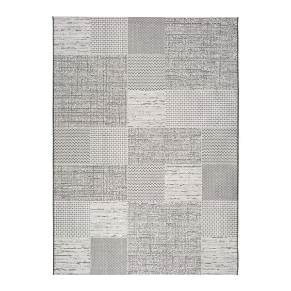 Šedobéžový koberec vhodný i na ven Weave Mujro, 130 x 190 cm