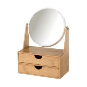 Dvojité zrcadlo se 2 zásuvkami z bambusu Unimasa Princess