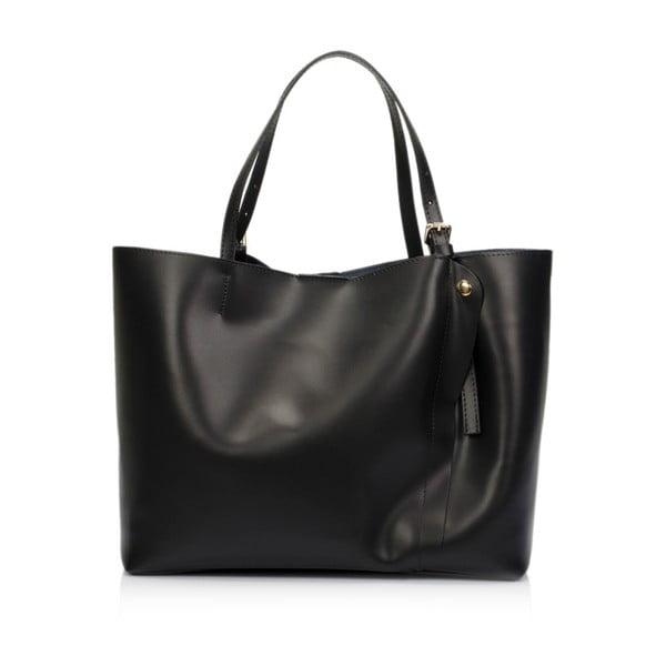 Černá kožená kabelka Lisa Minardi Beallara