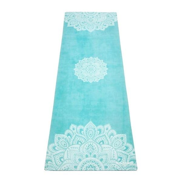 Tyrkysově modrá podložka na jógu Yoga Design Lab Commuter Mandala, 1,3kg
