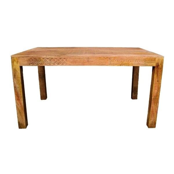 Jídelní stůl z masivního mangového dřeva Massive Home Ella, 90x200cm