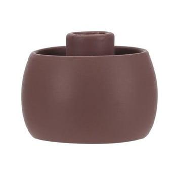 Suport din ceramică pentru lumânare A Simple Mess Tiana, ⌀ 9 cm, maro deschis de la A Simple Mess