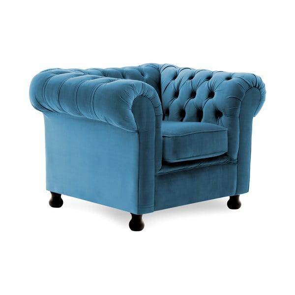 Fotoliu Vivonita Chesterfield, albastru