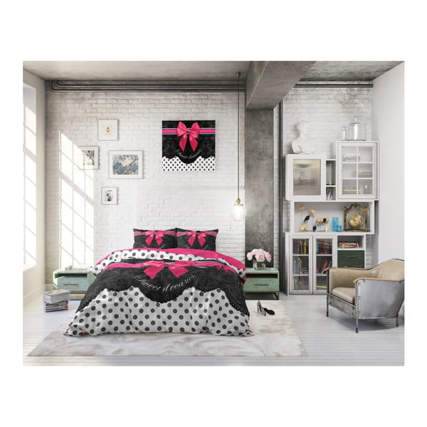 Bavlněné povlečení na jednolůžko Sleeptime Romance, 140 x 220 cm